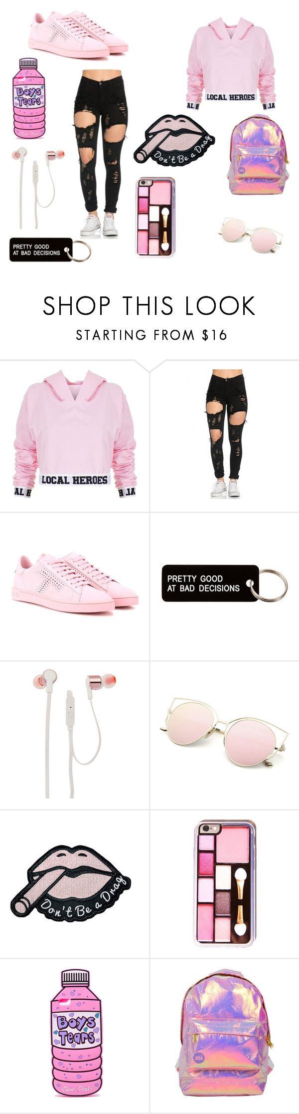 """pretty in pink"" by sofiebflippin on Polyvore featuring Local Heroes, Tod's, Various Projects, JBL and Miss Selfridge"