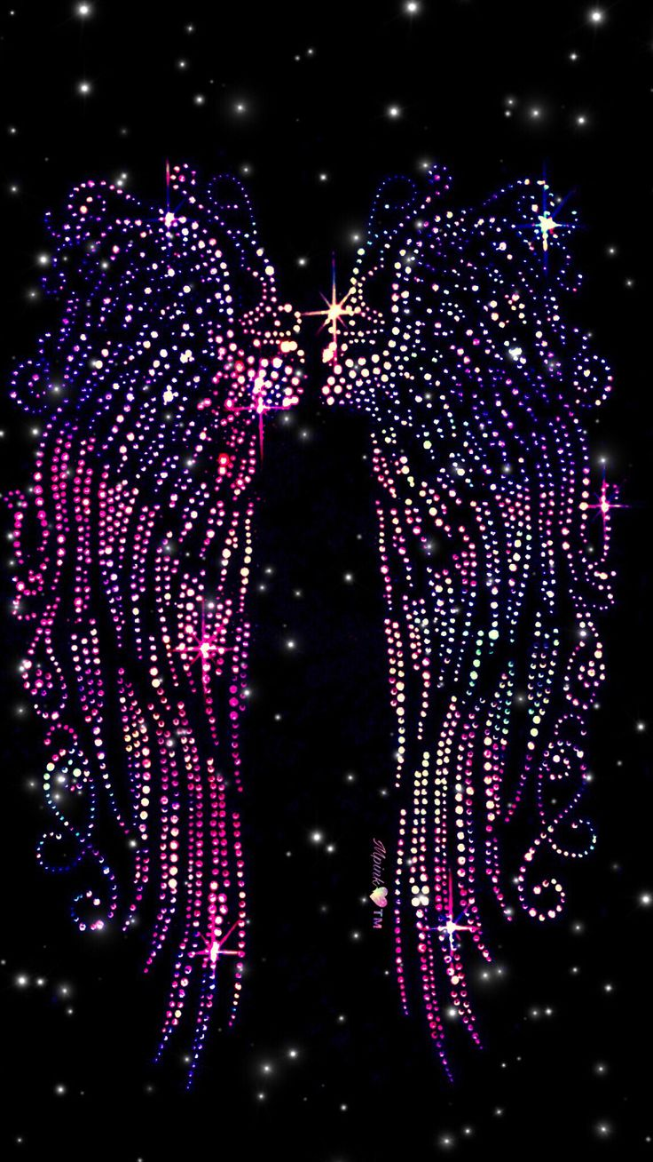 Rhinestone Wings Galaxy Wallpaper #androidwallpaper #iphonewallpaper #wallpaper #galaxy #sparkle #glitter #lockscreen #pretty #pink #cute #girly #diamonds #neon #tribal #pattern #art #wings #bling #colorful