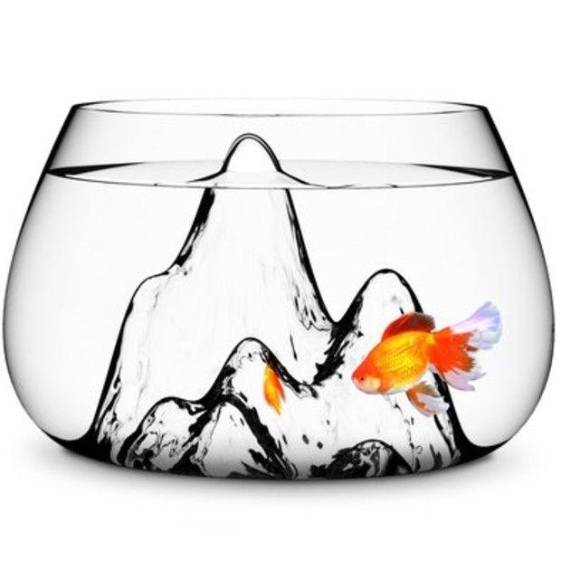 Mountain landscape fish bowl: Idea, Glass, Fishbowl, Products, Design, Bowls