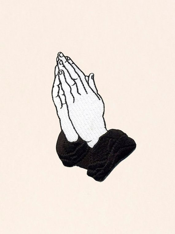 Praying Hands Patch  6 God Edition by BRRYBNDS on Etsy
