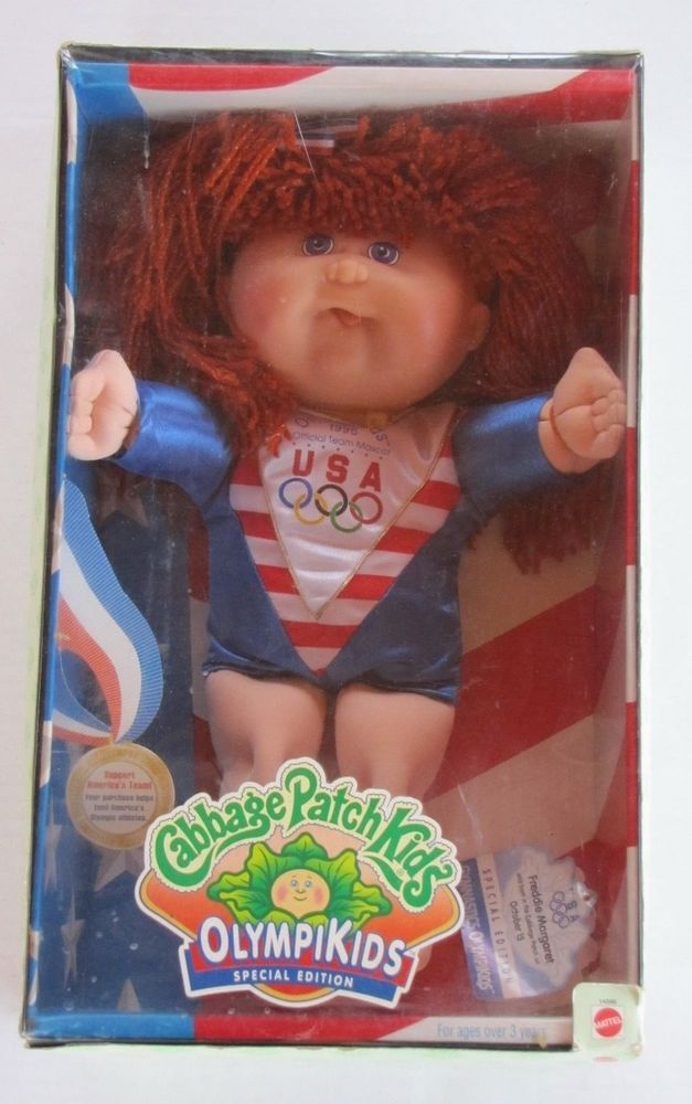 1996 Cabbage Patch Kids Gymnastic Olympikids Special Edition Tongue Sticking Out #Mattel #DollswithClothingAccessories