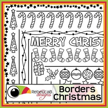 Borders Christmas contains 10 different doodled borders, white fill and transparent of each and in U.S. Letter size.  There are a total of 20 Borders in this set and they can be reduced or increased in size easily. Use these .png files to create your worksheets, activities, product covers, posters and other teaching resources.