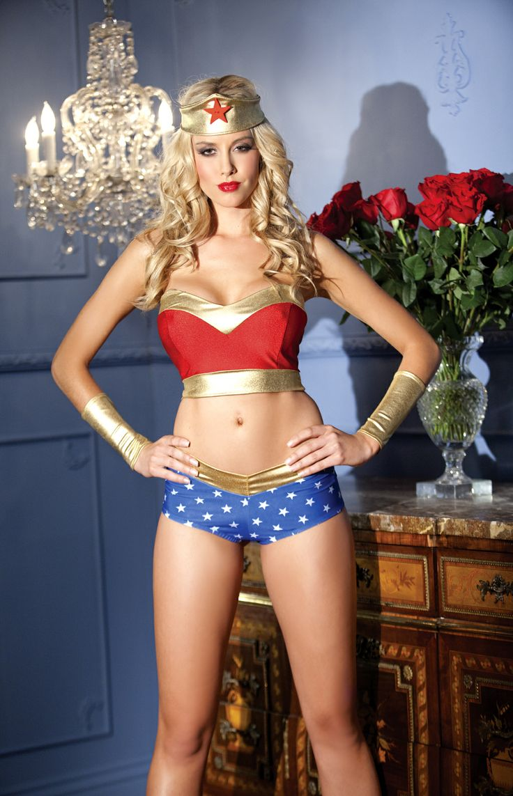 Heavenly Heroine Wonder Women Womens Bedroom Costume By Be Wicked M/l Brand  New Used On Mannequin. Its This Years Version Of The Costume