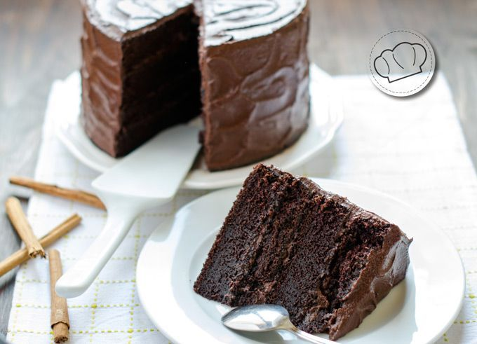 receta de Devil's food cake. Tarta de chocolate