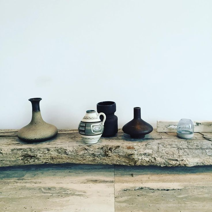 Casa Nera, Italy by Magnus+Associates, mid-century vases, travertine floor