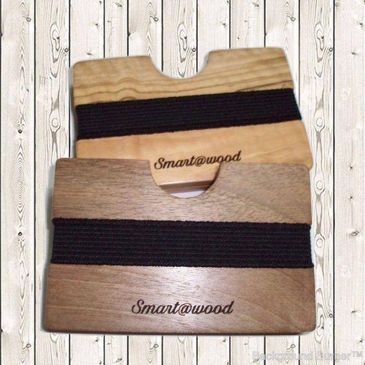 Handmade Wooden Wallet For Credit Card,Money,  + Add Engraving Message - 9 wood #Handmadesmartawood #CardHolder