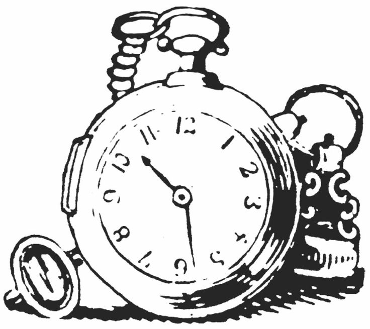 alice in wonderland clock clipart - photo #40