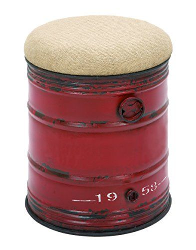 Deco 79 Metal Burlap Stool, 18 By 14 Inch Deco 79 Http:/