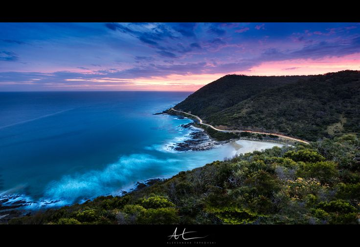 Visis www.AleksTrpkovski.com for more details - I captured this sunset photo a while ago at Teddy's Lookout near Lorne, about 2 hours drive from Melbourne.