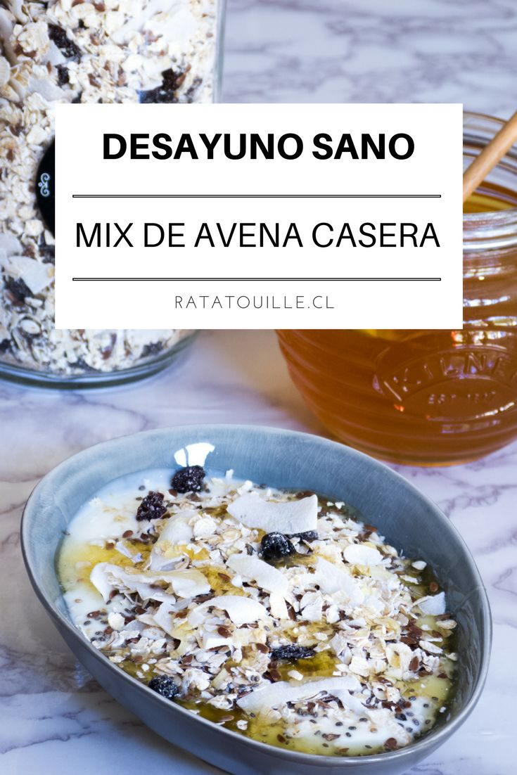 Ésta reecta de avena casera es el secreto de un desayuno sano, rico y contundente, ¡Me encanta! Haz click en la imagen para ver la receta.