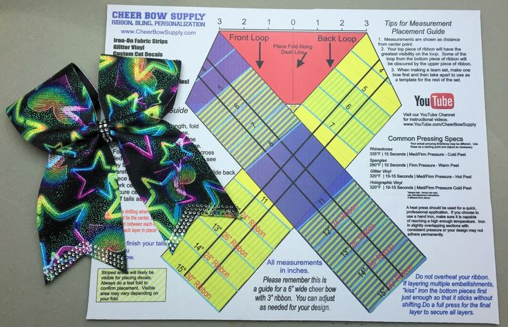 cheer bow template mat measurement ribbon guide cheer bow supply bows pinterest cheer. Black Bedroom Furniture Sets. Home Design Ideas
