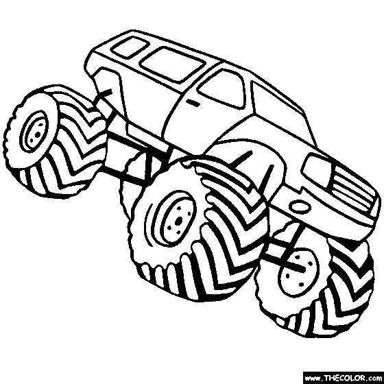 Monster Truck Coloring Page | Color Monster Trucks