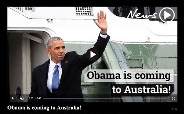 how to see barack obama speak sydney