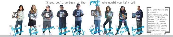 Secondary Coverage: This is a cool idea for a mod. You line up the people and they hold up pictures of who they would want to meet from the past. It would be a fun thing to look at in the yearbook.
