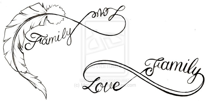 Considering to get this tattoo.. Infinity family love. On my wrist or inbetween my shoulderblades..