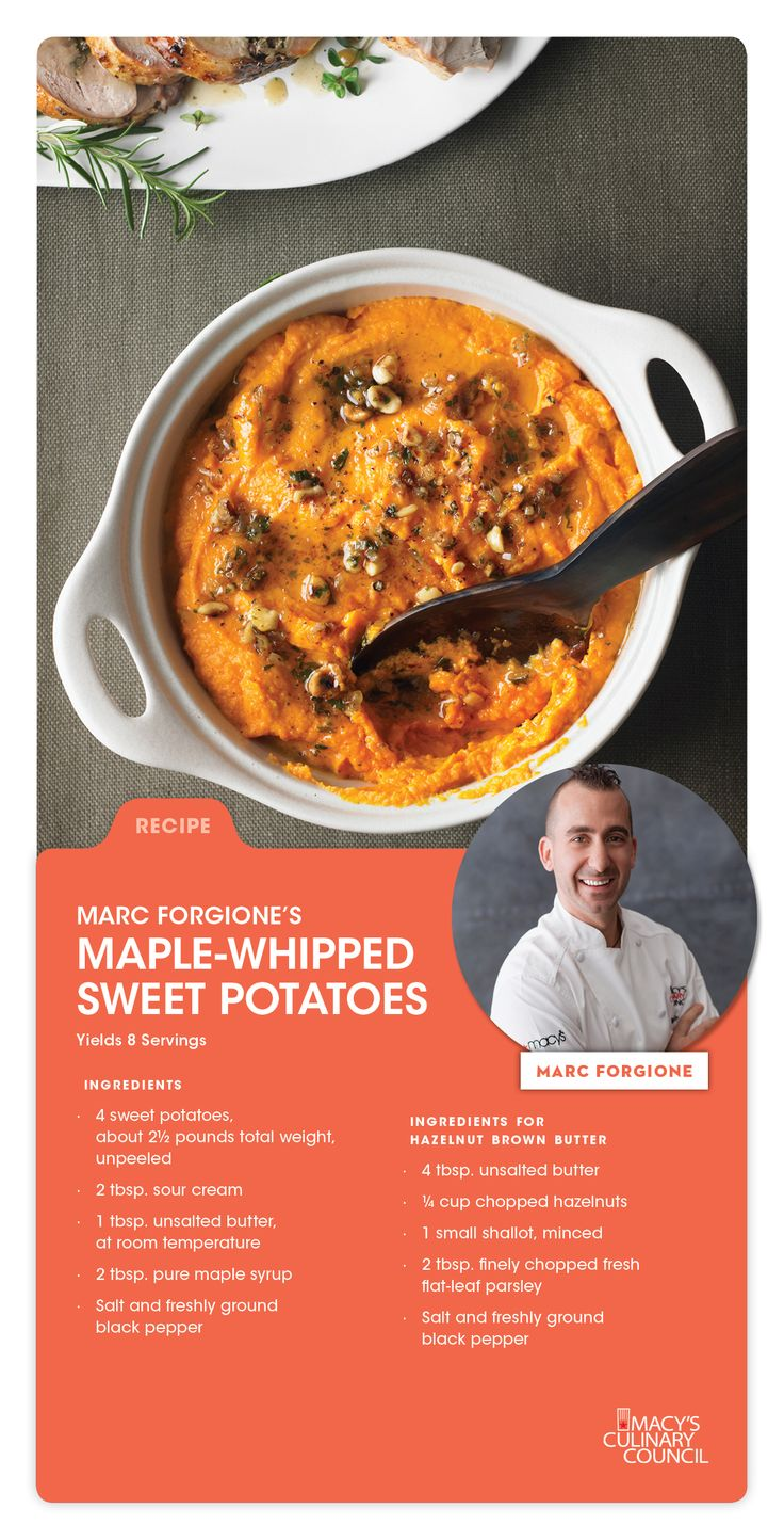 ... Maple-Whipped Sweet Potatoes | Get Cooking | Pinterest | Sweet, Chefs