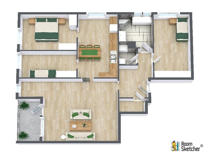 With RoomSketcher Itu0027s Easy To Create Floor Plans For Real Estate. Impress  Homebuyers And Renters