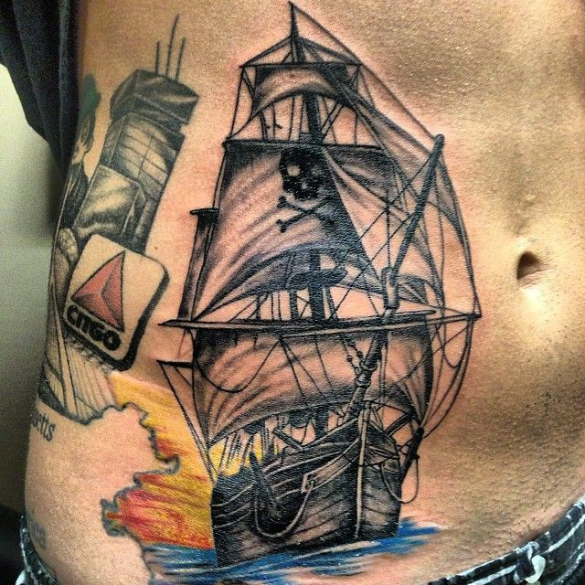 Tattoo Designs Pirate Ships: 25+ Best Ideas About Pirate Ship Tattoos On Pinterest