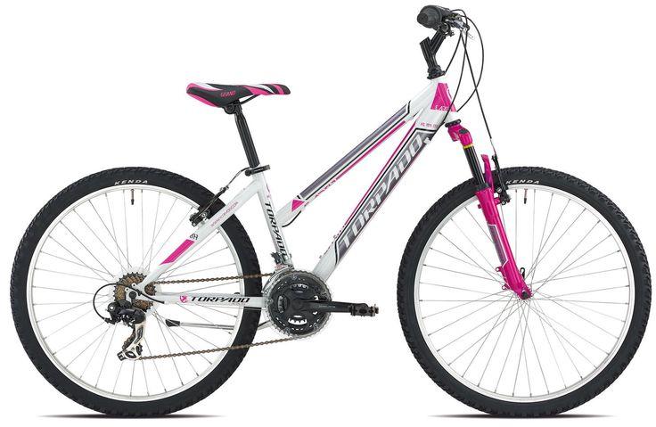 Bici MTB Earth 26 Donna 3X7V Taglia 44 Bianco Fucsia Torpado   eBay