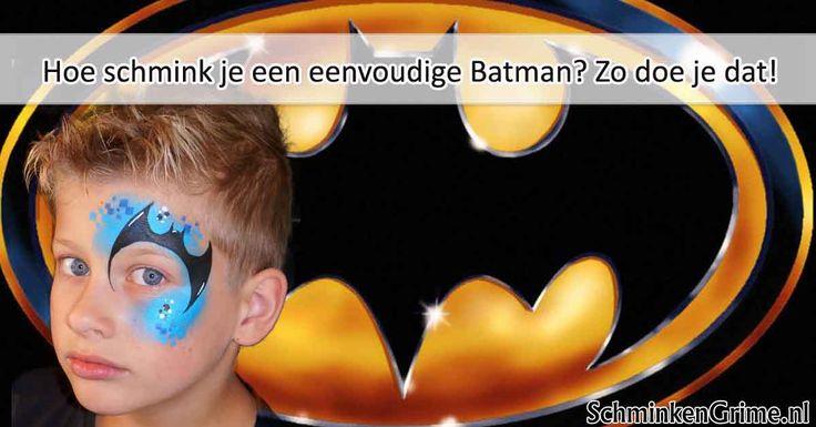 Hoe Schmink je een eenvoudige Batman? Batman schminken is geen hogere wiskunde maar het is wel een zeer geliefd en herkenbaar design.