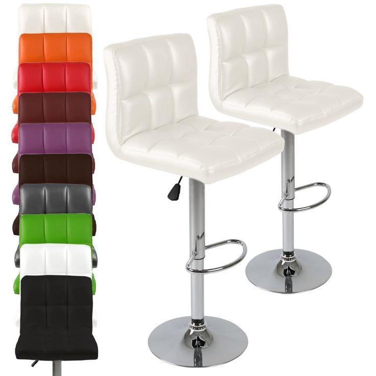 miadomodo lbhk01 sgabelli in similpelle set da 2 colore a scelta ... - Sgabelli Da Cucina Ikea