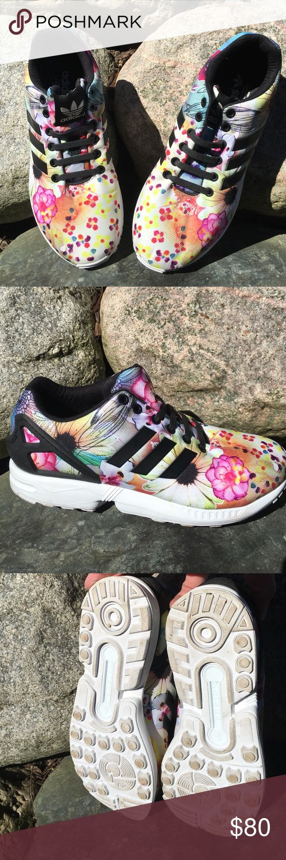 sports shoes 56b14 74c7e adidas zx flux floral womens
