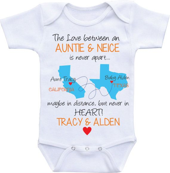 Personalized State map country Auntie Onesies Aunt and Niece/Nephew Aunt Onesie  Aunt baby clothes I love my Aunt shirt Custom baby gifts by DAIICHIBANdesigns