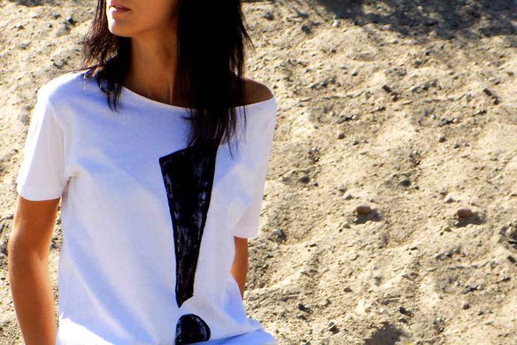 "t-shirt luźny  fason "" ! "" - AK-Creativo - Koszulki i bluzy"