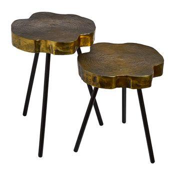 Tree Slice Side Table - Set of 2