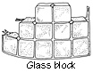 Glass Block Diagram - I keep thinking I can utilize these in a passive solar design as a thermal sink.