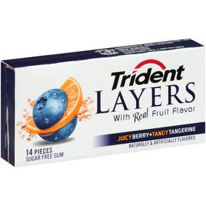 Trident Layers Juicy Berry + Tangy Tangerine Sugar Free Gum