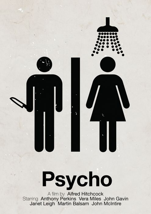 Psycho, infográfico / ilustração isotype por Viktor Hertz -Watch Free Latest Movies Online on Moive365