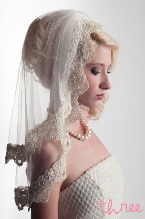 love the lace: Hair Beautiful, Vintage Veils, Beautiful Photo, Bridal Veils, Bridal Makeup, Models Makeup, Lace Veils, Vintage Wedding Veils, Vintage Style