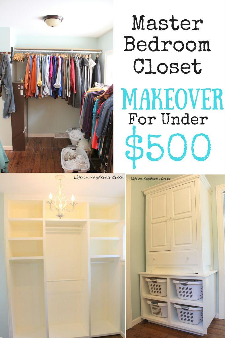 Master Bedroom Closet Makeover for under $500 - Life on Kaydeross Creek