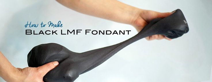 How to make black fondant that is smooth, stretchy, delicious and easy! Made using the LMF fondant recipe.