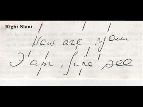 Handwriting analysis slant left