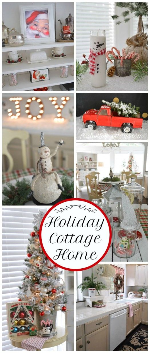 Cottage Christmas simple affordable vintage thrifted and