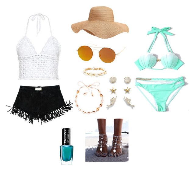 """""""Beach day aesthetic"""" by mimixai on Polyvore featuring RED Valentino, Denim & Supply by Ralph Lauren, SW Global, WithChic, Isabel Marant, BeYu and Old Navy"""