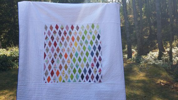 Modern Queen Quilt Twin Quilt Bedding Double by TheVinylTeacup