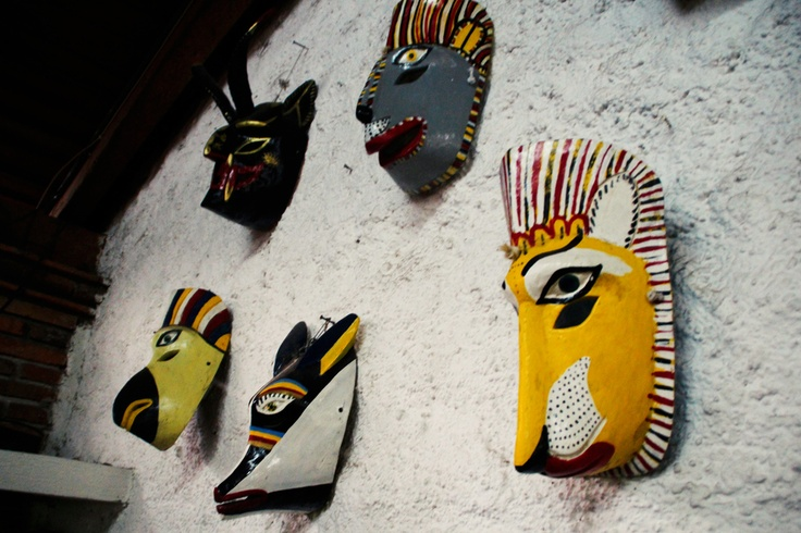 After they are carved they are painted beautifully with oil paints.