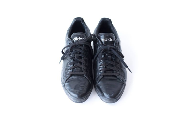 ADIDAS Leather Sneakers Vintage Black Tennis Shoes Womens Size 10.5 Mens Size 9.5