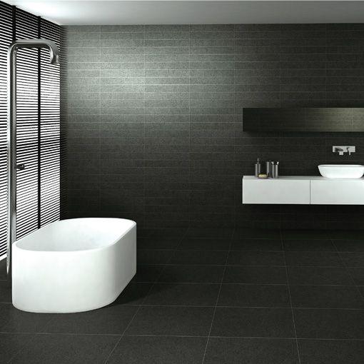 Best Bathroom Tiles Images On Pinterest Bathroom Tiling Wall - Matt black bathroom tiles