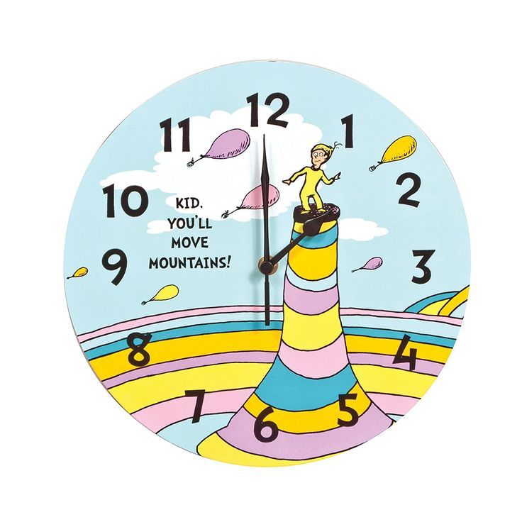 Trend Lab Dr. Seuss Kid Wall Clock, You'll Move Mountains *** You can find out more details at the link of the image. (This is an affiliate link and I receive a commission for the sales)