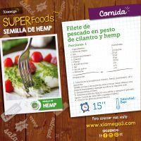 Filete de tilapia en pesto de hemp y cilantro ¡Deliciosa! #superfoods