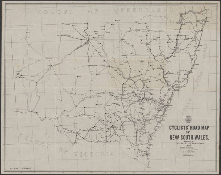 Cyclists' road map of New South Wales, 1898 - Imgur