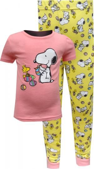 Peanuts Snoopy Easter Beagle Toddler Girls Pajama