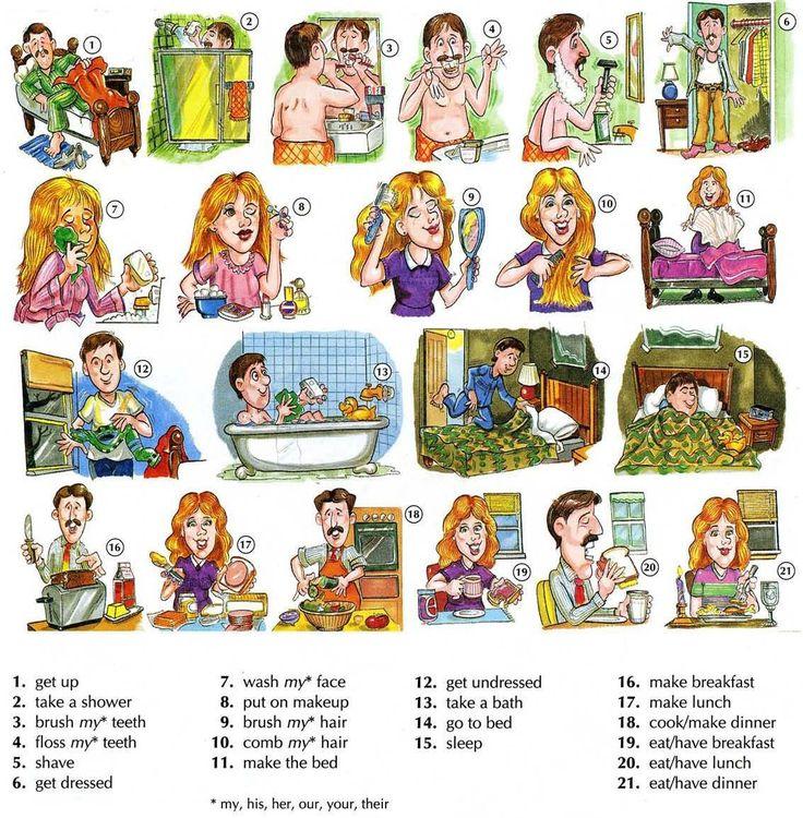 1. Daily routines | English4Fun