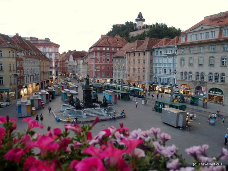 Central place of Graz, Austria. Places I have been and would love to go back.