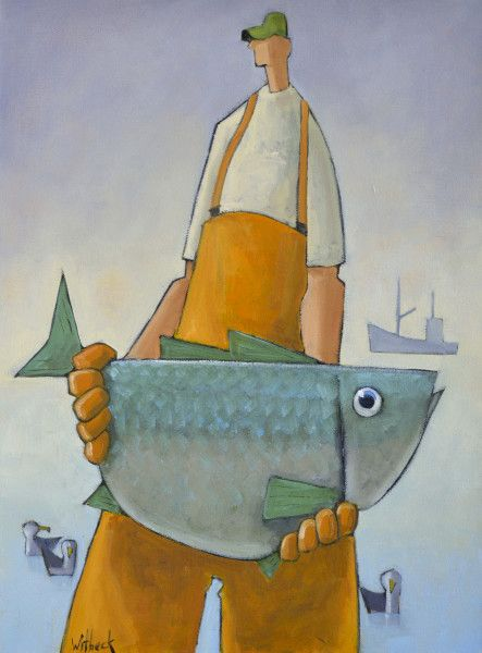 """Barry"" by David Witbeck. 24"" x 18"" Oil on Canvas. *SOLD* www.maine-art.com"