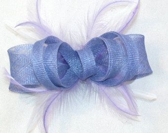 Pinza de pelo lila Fascinator púrpura Fascinator Wedding Fascinator razas Fascinator Kentucky Derby Fascinator Ascot Fascinator lila hecha a mano